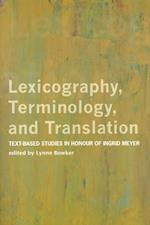 Lexicography, Terminology, and Translation (Perspectives on Translation)