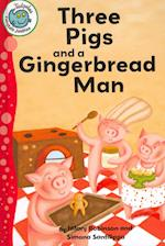 Three Pigs and a Gingerbread Man (Tadpoles Fairytale Jumbles)