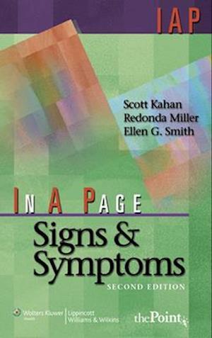 Bog, paperback In A Page Signs & Symptoms af Redonda Miller, Ellen G Smith, Scott Kahan