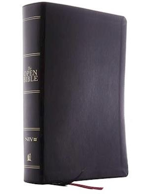The Niv, Open Bible, Leathersoft, Black, Red Letter Edition, Comfort Print