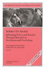 Science for Society (New Directions for Child & Adolescent Development, nr. 98)