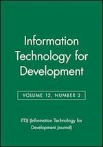 Information Technology for Development, Volume 12, Number 3 (Itdj Single Issue Information Technology for Development J, nr. 6)