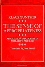 The Sense of Appropriateness af Klaus Gunther
