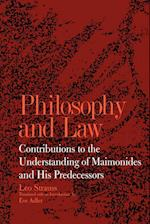 Philosophy and Law (Suny Series Jewish Writings of Strauss)
