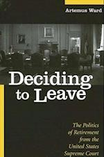 Deciding to Leave (Suny Series in American Constitutionalism)