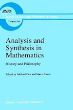 Analysis and Synthesis in Mathematics af Marco Panza, Michael Otte