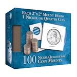 Nickel-Quarter 2x2 Mylar Protective Coin Covers