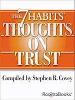 7 Habits Thoughts on Trust