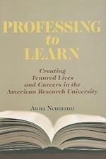 Professing to Learn