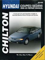 Hyundai Coupes and Sedans, 1986-93 Elantra/Excel/Scoupe/Sonata (Chilton's Total Car Care Repair Manuals)
