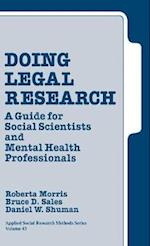 Doing Legal Research (Applied Social Research Methods, nr. 43)