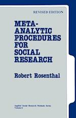 Meta-Analytic Procedures for Social Research af Robert Rosenthal