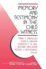Memory and Testimony in the Child Witness (Applied Psychology: Individual, Social & Community Issues S, nr. 1)