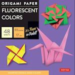 Origami Paper - Fluorescent Colors - 6 3/4