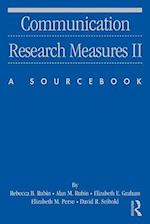 Communication Research Measures II (Routledge Communication Series)