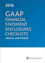 GAAP Financial Statement Disclosures Checklists