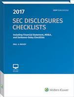 SEC Disclosures Checklists, (2017 Edition)