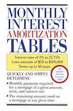 Monthly Interest Amortization Tables (Personal Finance Investment)