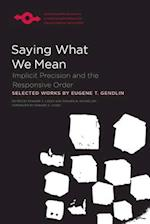 Saying What We Mean (Studies in Phenomenology and Existential Philosophy Paperba)