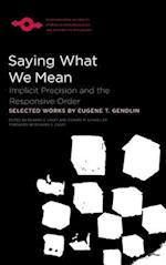 Saying What We Mean (Studies in Phenomenology and Existential Philosophy Hardcov)