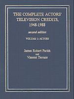 The Complete Actors' Television Credits, 1948-1988 af Vincent Terrace