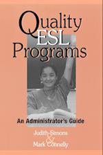 Quality ESL Programs af Judith Simons, Mark Connelly