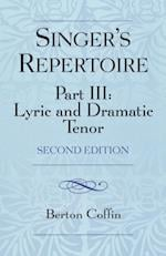The Singer's Repertoire, Part III