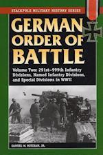 German Order of Battle af Samuel W Mitcham