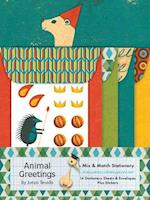 Animal Greetings Mix and Match Stationery af Junzo Terada