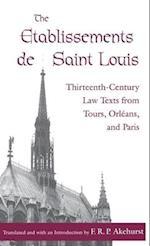 The Etablissements de Saint Louis (The Middle Ages Series)