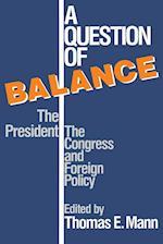 A Question of Balance (Political and Economic Development)
