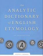 Analytic Dictionary of English Etymology