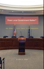Does Local Government Matter? (Globalization and Community)