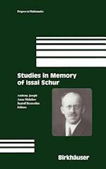 Studies in Memory of Issai Schur af Anna Melnikov, Anthony Joseph, Rudolf Rentschler