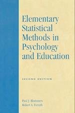 Elementary Statistical Methods in Psychology and Education