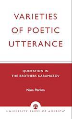 Varieties of Poetic Utterance