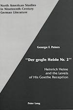 -Der Grosse Heide NR. 2- (North American Studies in Nineteenth Century German Literatu, nr. 4)