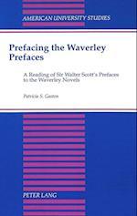 Prefacing the Waverley Prefaces (American University Studies, nr. 130)