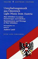 Unterhaltungsmusik Aus Oesterreich Light Music from Austria (AUSTRIAN CULTURE, nr. 6)