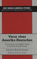 Verse Eines Amerika-Deutschen (American University Studies, nr. 8)