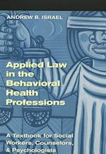 Applied Law in the Behavioral Health Professions