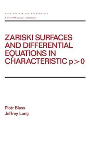 Zariski Surfaces and Differential Equations in Characteristic P