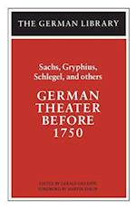 German Theatre Before 1750 af Hans Sachs