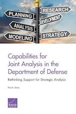 Capabilities for Joint Analysis in the Department of Defense