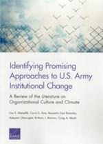 Identifying Promising Approaches to U.S. Army Institutional Change