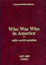 Who Was Who in America 1607-2009 Index