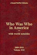Who Was Who in America (WHO WAS WHO IN AMERICA, nr. 21)