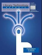 E-Book Platforms for Libraries (Library Technology Reports)