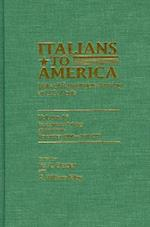 Italians to America, November 1900-April 1901 (ITALIANS TO AMERICA, nr. 16)