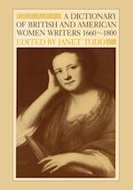 A Dictionary of British and American Women Writers 1660-1800 af Janet Todd